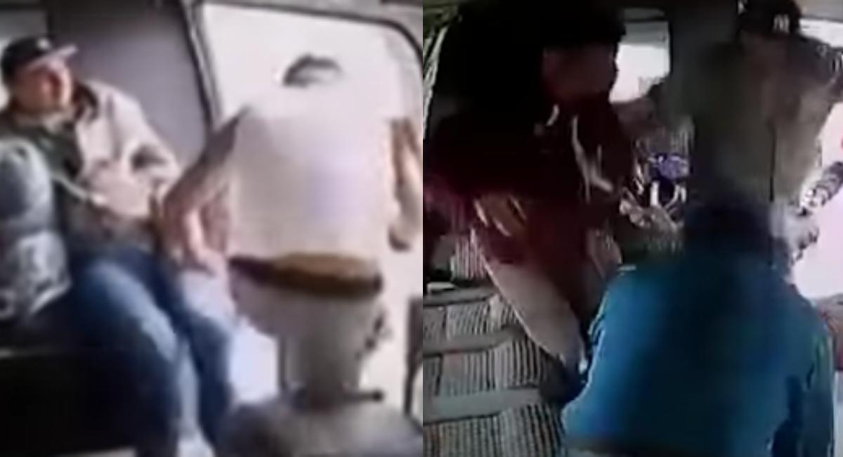 Hacen doblaje latino al video del ladrón en combi