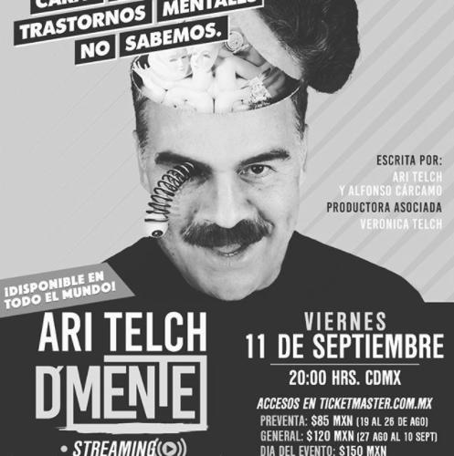 Cartel de la obra de teatro de Ari Telch