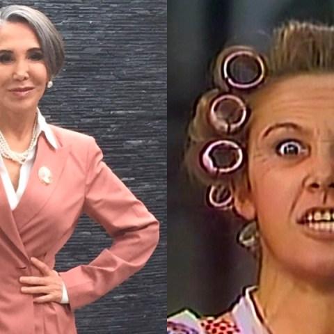 Florinda Meza enojada y triste por Chespirito