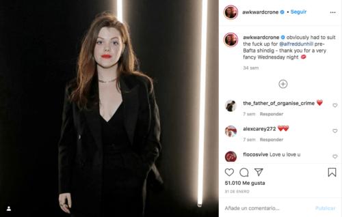 Georgie Henley en su instagram
