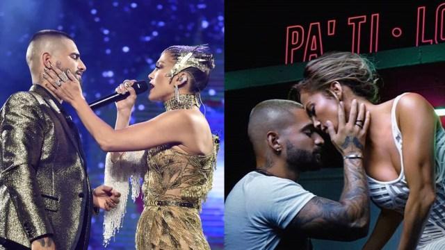 Maluma Jennifer Lopez Beso