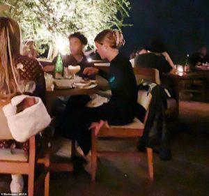 Sofia Richie y Jaden Smith cenando