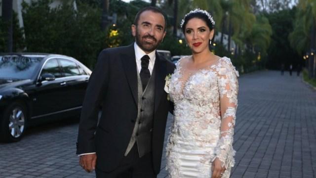 Vicente Fernández Jr junto a su ahora exesposa, Karina Ortegón