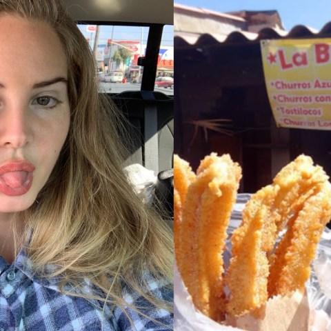 Lana del Rey está de vacaciones en Mexico y ya hasta comió churros