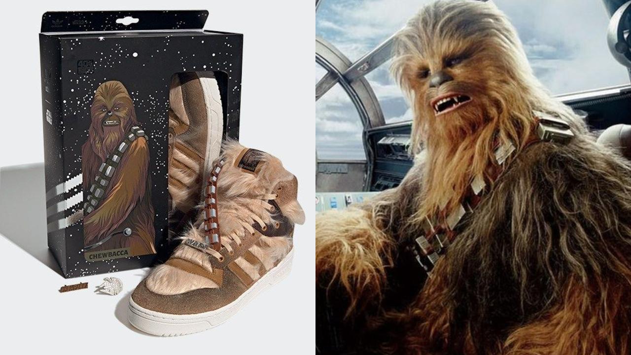 Chewbacca tiene sus tenis Adidas