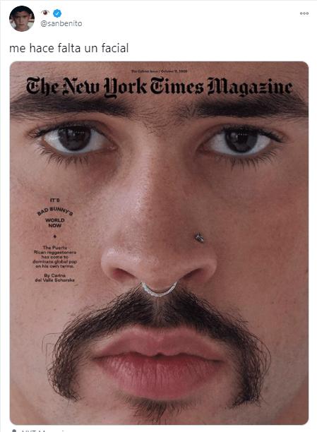 Bad Bunny en la portada de NYT