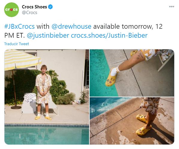 Colaboracion de Justin Bieber y Crocs