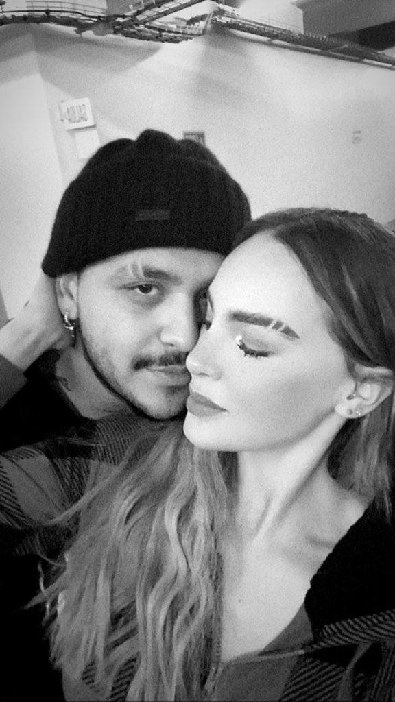 Christian Nodal y Belinda presumen su nuevo estilo de cejas en pareja