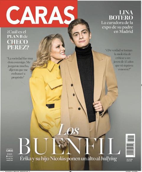 Erika Buenfil posa en una revista junto a su hijo Nicolás para pedir alto al Bullying
