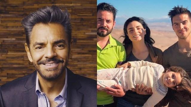 Eugenio Derbez bromea con sus hijos