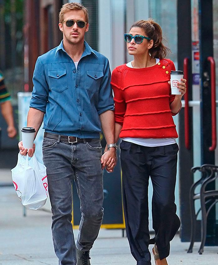 Eva Mendes y su esposo Ryan Gosling