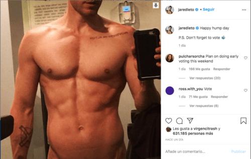 Jared Leto desnudo