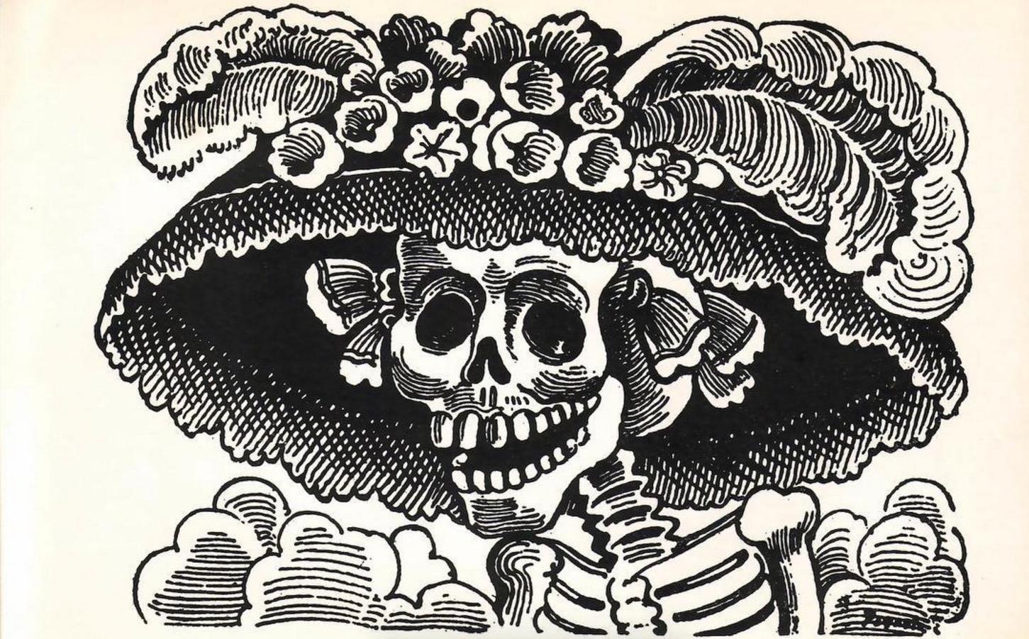 La catrina aparece en la fumarola del volcán Popocatépetl y emociona a todo México