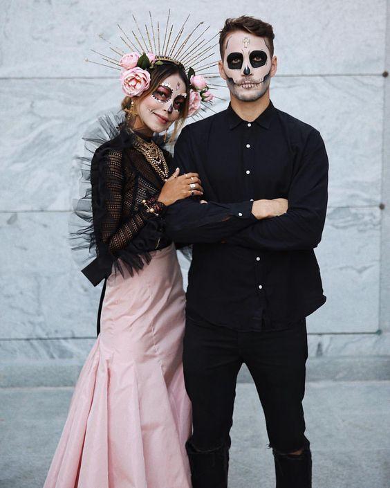 Disfraz pareja catrines