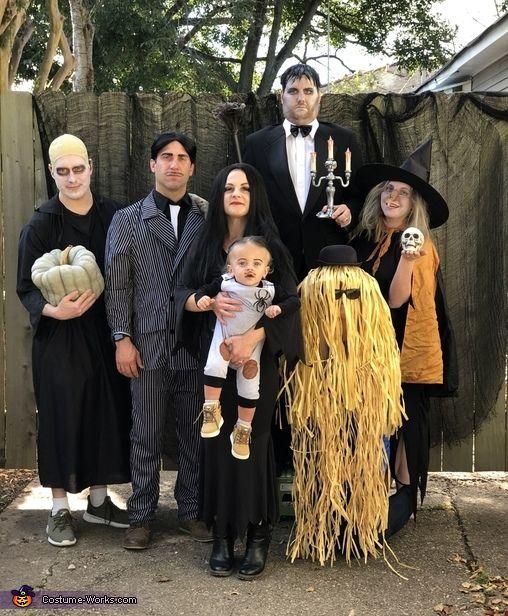 Disfraz familia Locos Adamsn