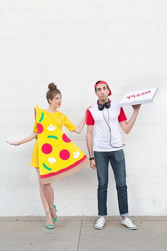 Disfraz pareja Pizza