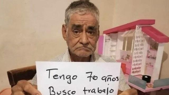 Abuelito busca trabajo para poderse jubilar dignamente