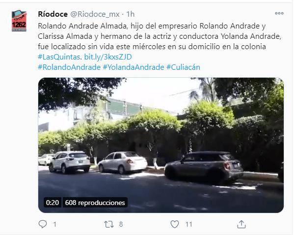 Encuentran muerto al hermano de Yolanda Andrade