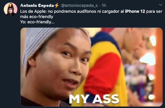 Meme iPhone 12 sin audifonos