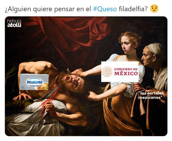 Memes prohibición de quesos en México