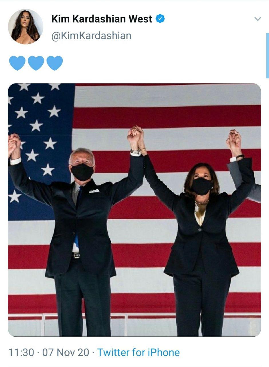 Así reaccionaron los famosos al triunfo de Joe Biden