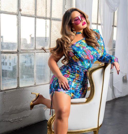 Chiquis Rivera vestido azul instagram