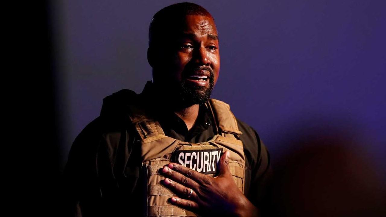 Kanye West llorando elecciones estados unidos 2020