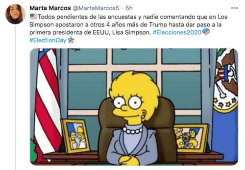 Lisa Simpson sucesora de Donald Trump en Estados Unidos