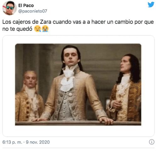 Meme cajera de Zara