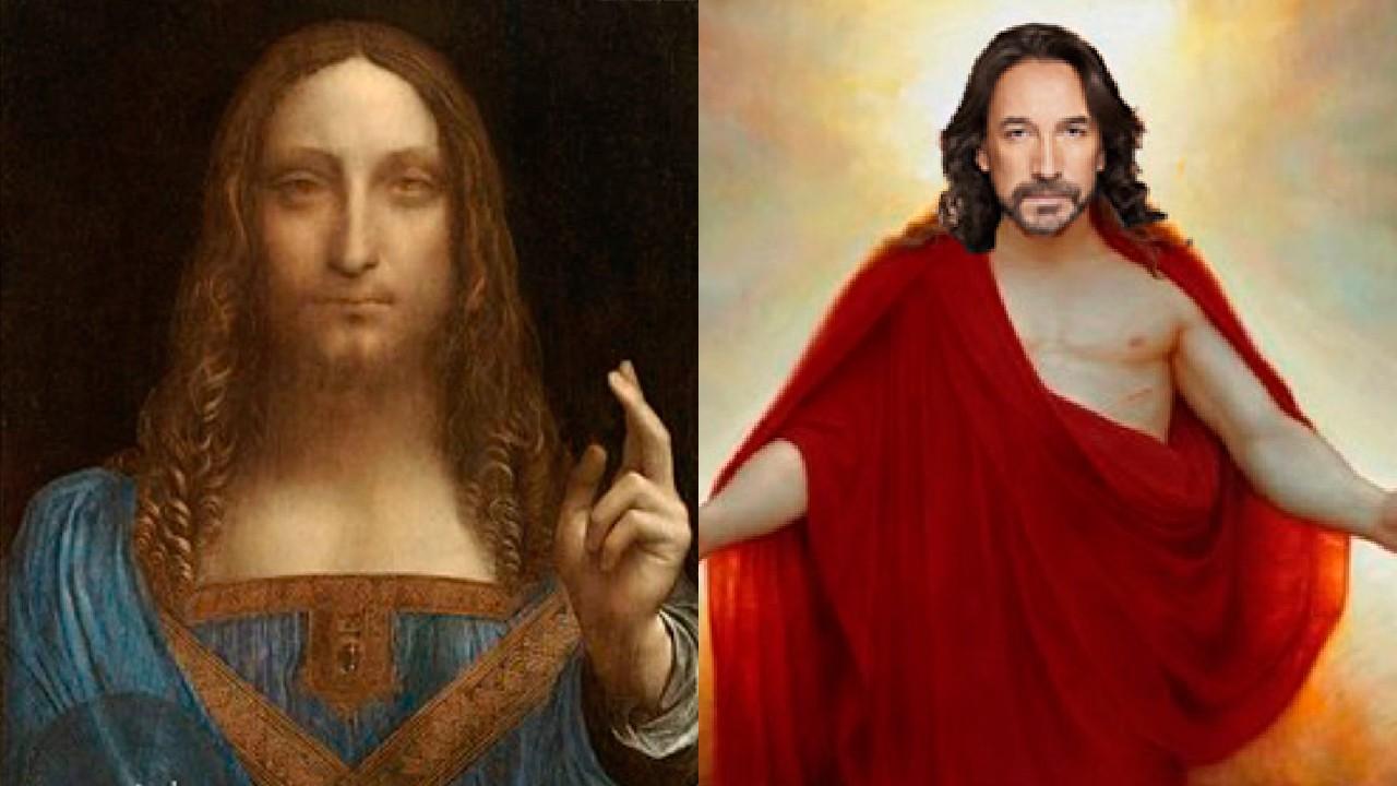 Pintura Leonardo da vinci cristo se parece al Buki