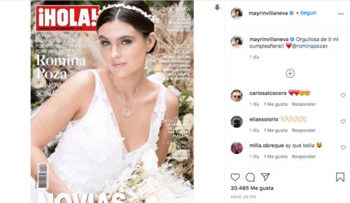 Romina Poza hija de mayrin villanueva vestida de novia