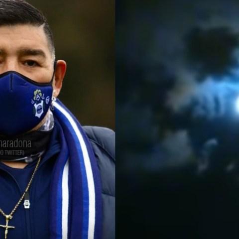 Maradona en las nubes