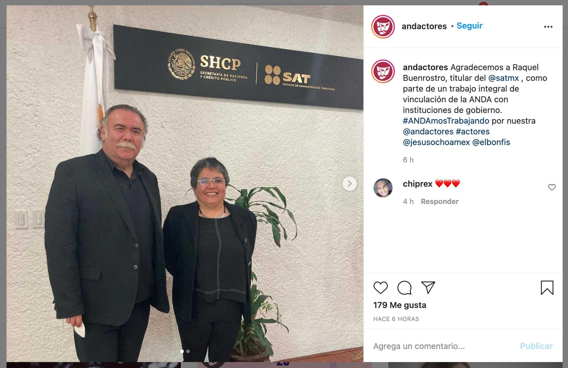 Jesús Ochoa se reune con Raquel Buenrostro del SAT