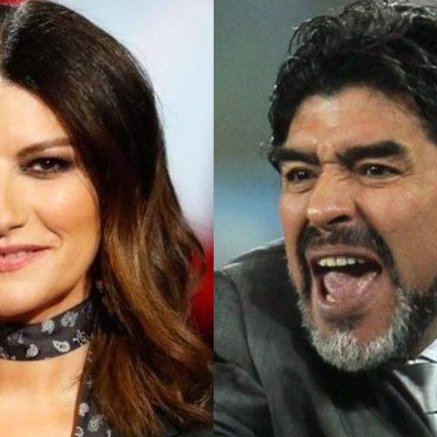 """Laura Pausini arremete contra Maradona y lo llama """"hombre poco apreciable"""""""