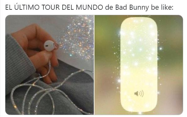 Meme audifonos con glitter