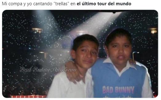 Meme llorando en concierto Bad Bunny
