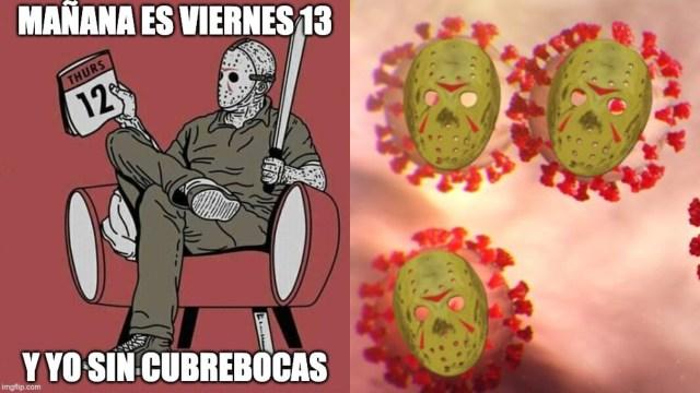 Los mejores memes del viernes 13 en pandemia