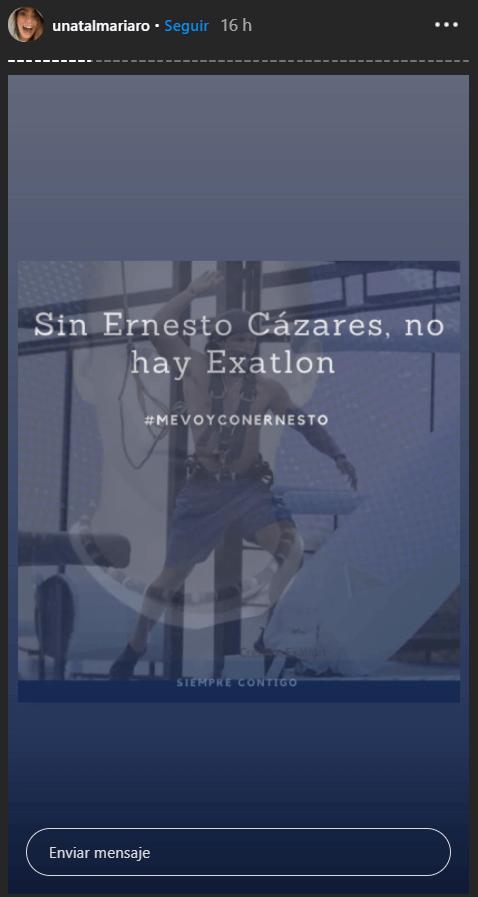 Novia de Ernesto Cazares explota tras su eliminación de Exatlón