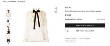Blusa Gucci de la esposa de Amlo
