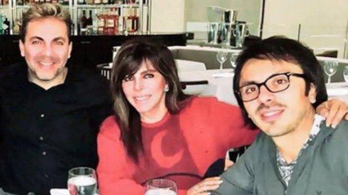 Foto verónica Castro con sus hijos Cristian y Michel