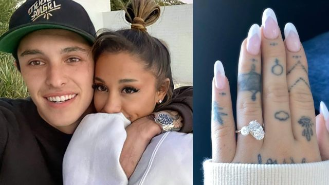 Ariana Grande se comprometió con su novio Dalton Gomez