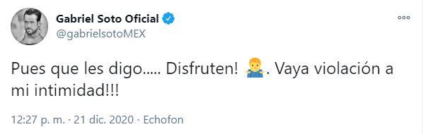 Gabriel Soto responde con mensaje tras su video íntimo