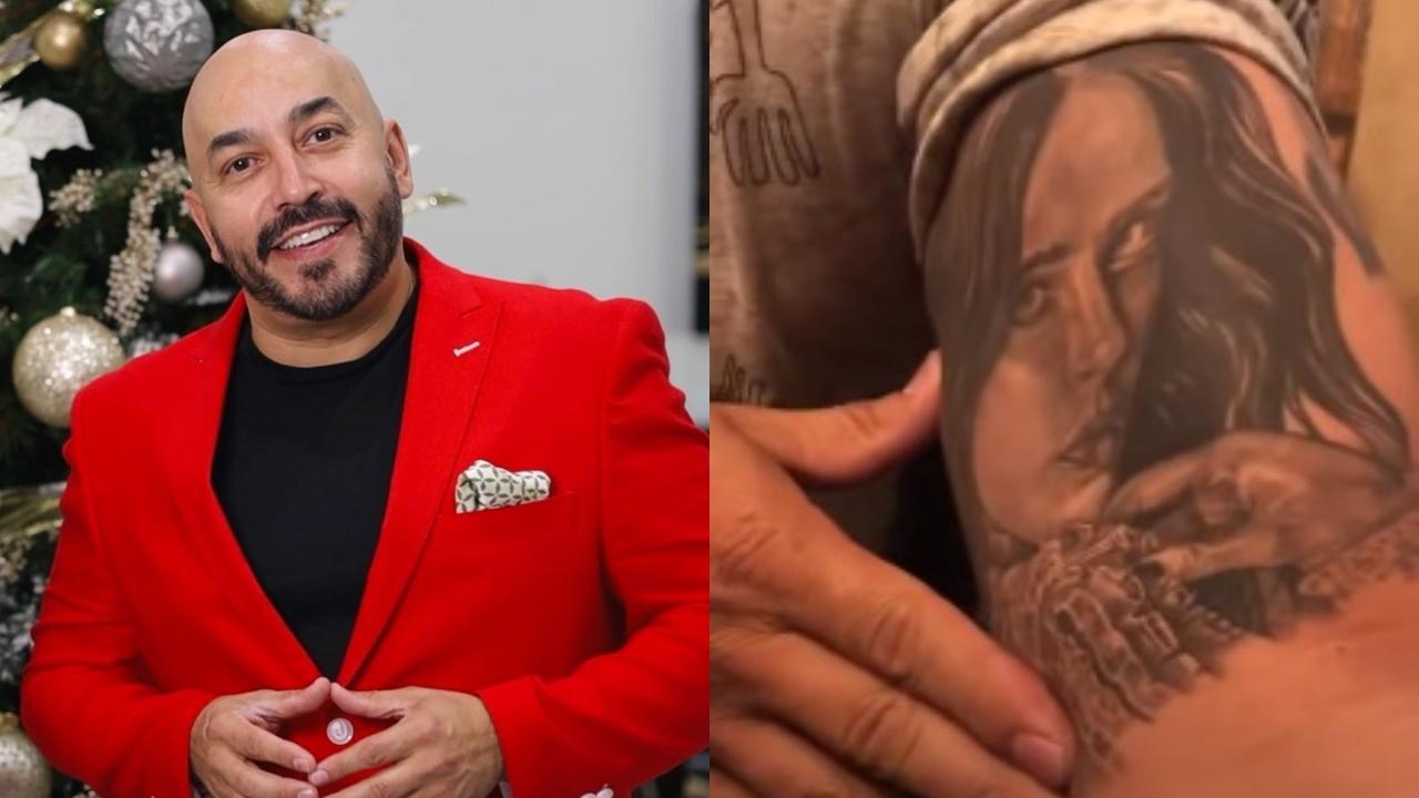 Lupillo Rivera y su tatuaje de Belinda