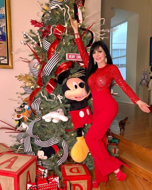 Maribel Guardia y su árbol de navidad