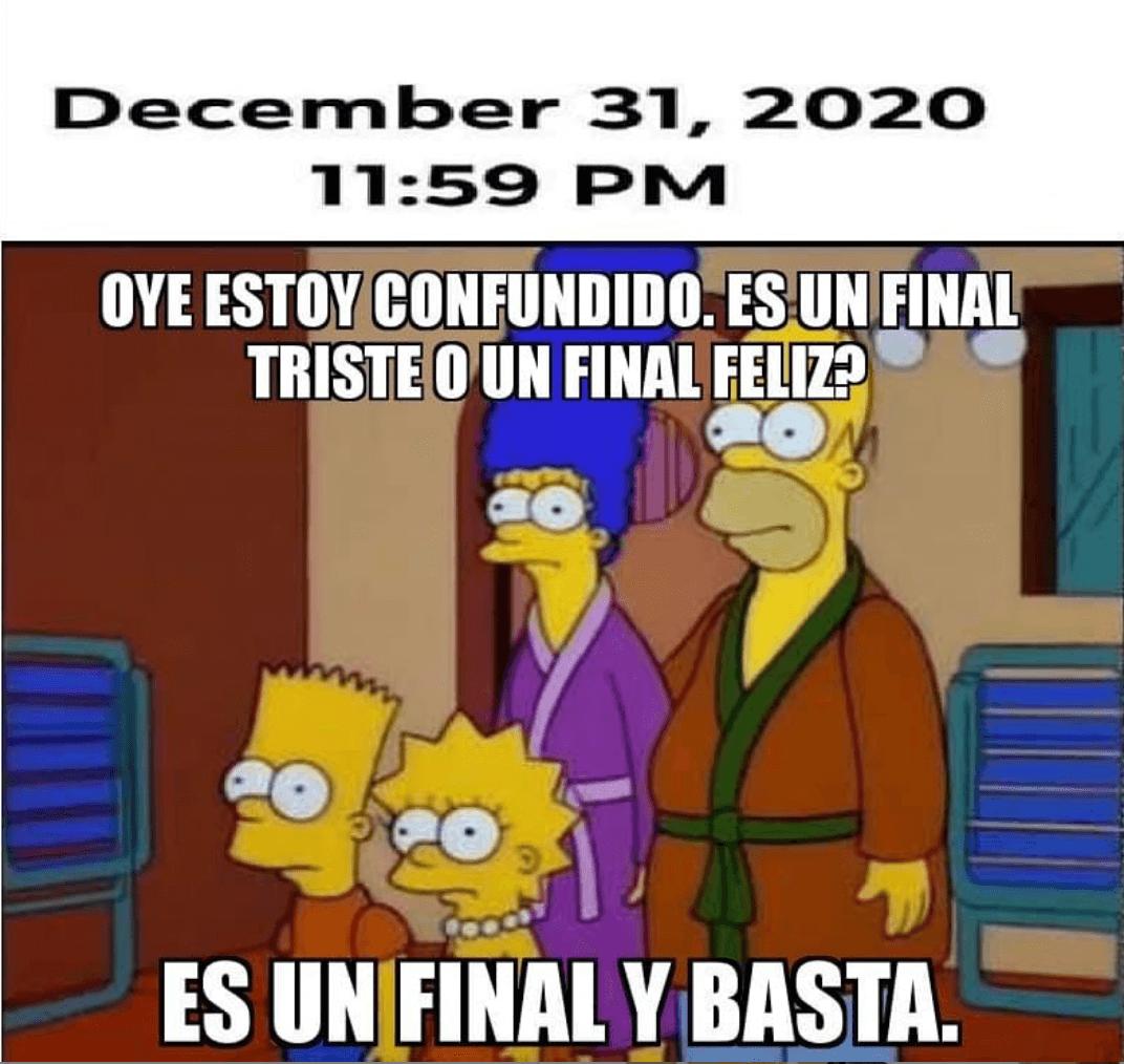 Meme del fin del 2020 es un final