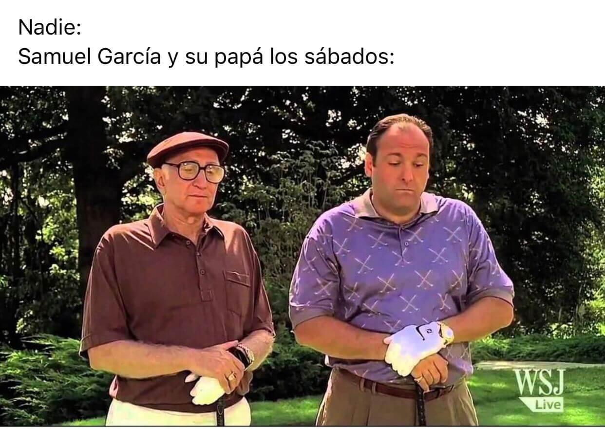 Los mejores memes de Samuel García obligado a jugar golf