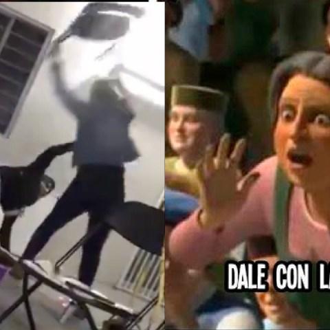 Influencers La Ñoña y La Kondesa protagonizan pelea en fiesta con sillas