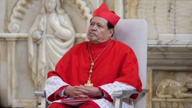 Norberto Rivera triste porque no tiene para los gastos del covid
