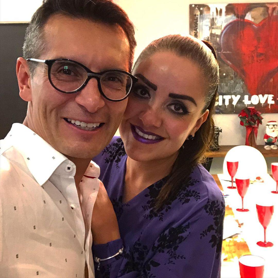 Sergio Sepúlveda y su esposa