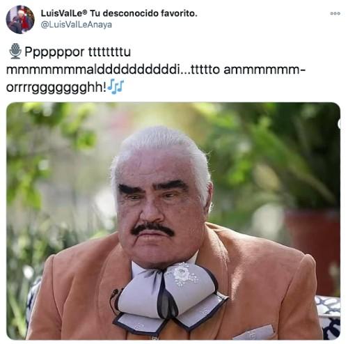 Vicente Fernández cantando por tu maldito amor
